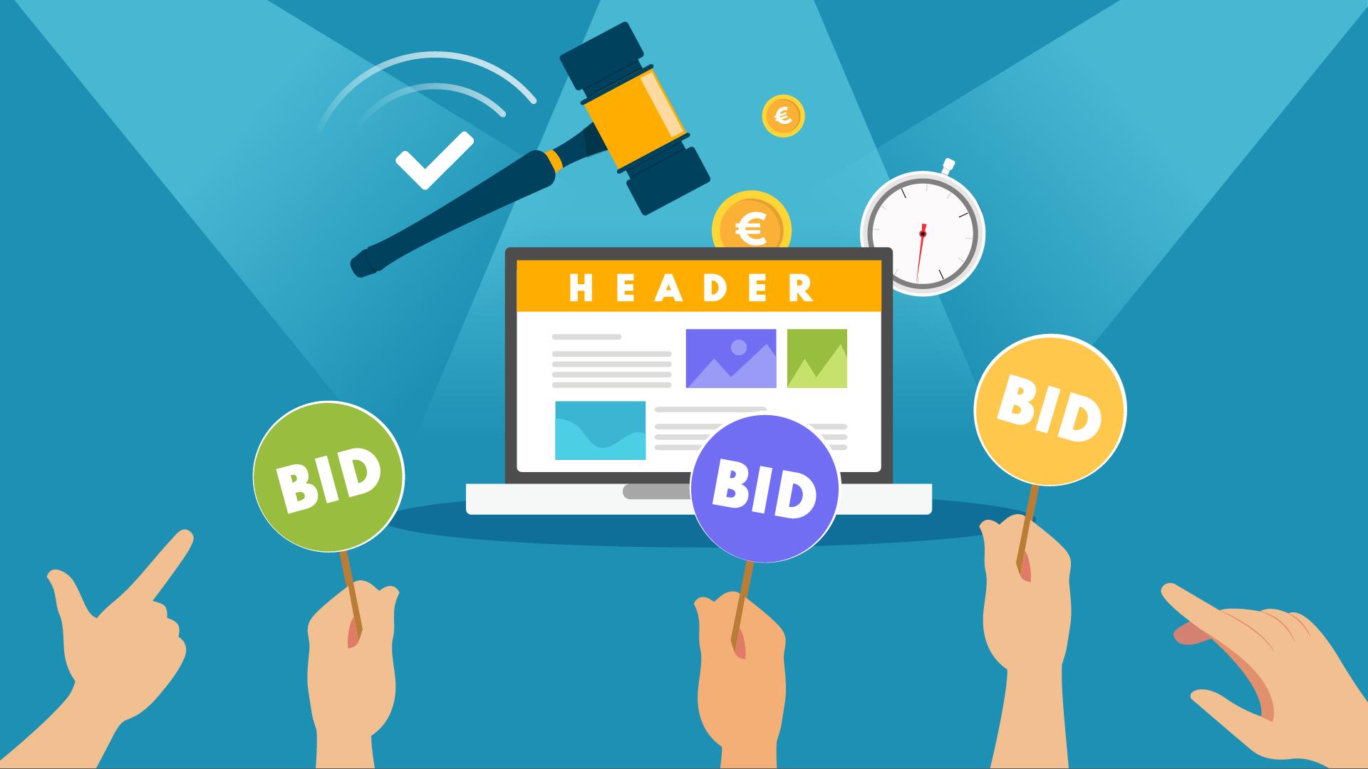 Illustration Glossaire - Header bidding