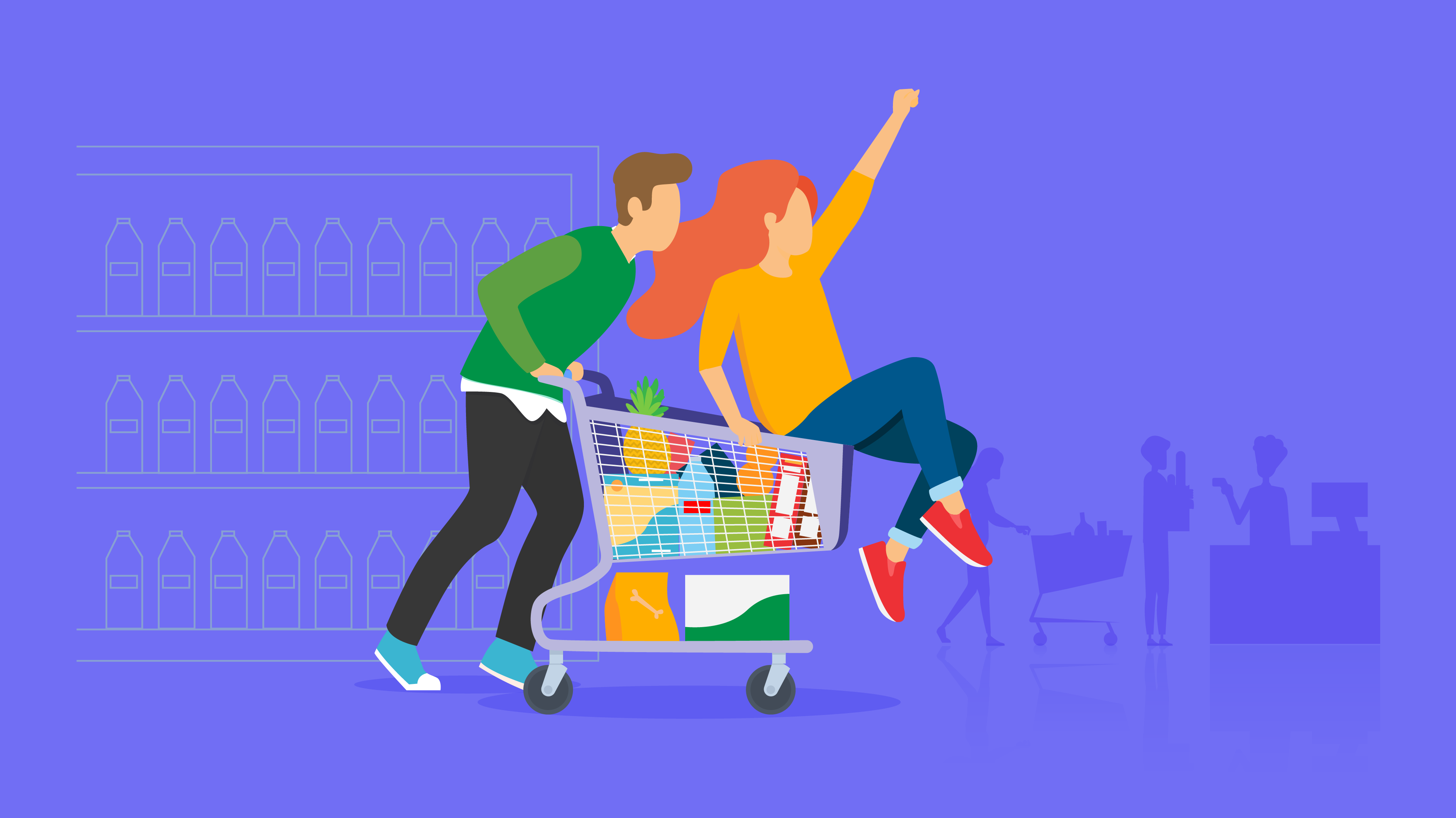 Préparation d'achats alimentaires en magasin 2020