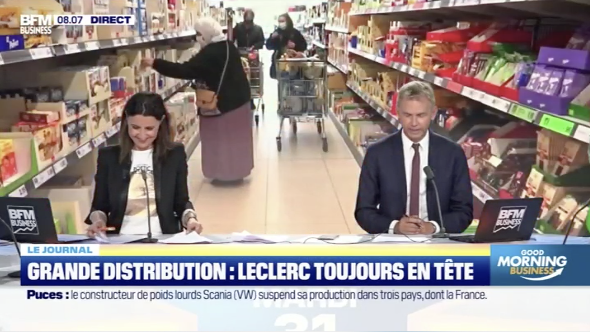 Grande distribution: Leclerc, toujours en tête