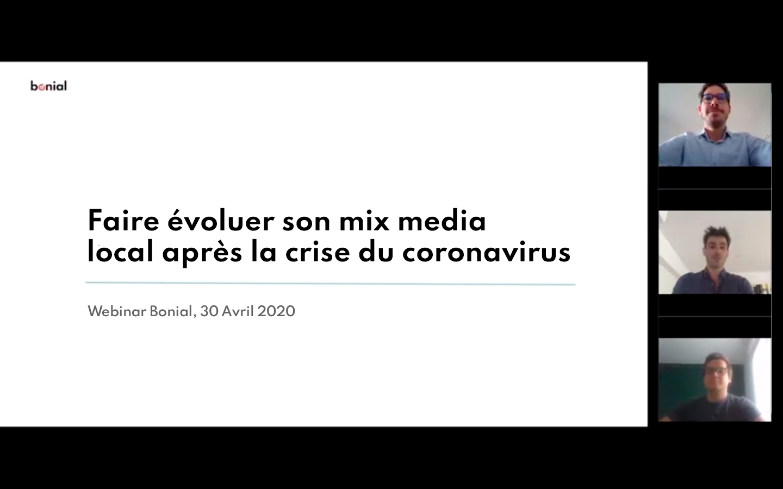 Webinar : Comment faire évoluer son mix-média local après la crise du coronavirus ?